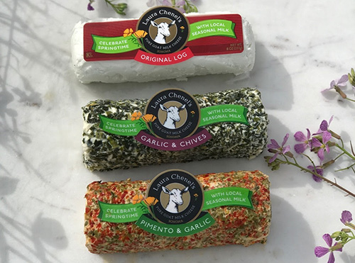 Laura Chenel's Springtime Goat Log Packaging