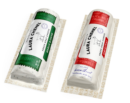 Laura Chenel will add a Garlic & Chive variety to its range of 5.4-oz goat cheese logs