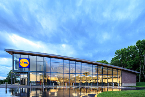 Exterior of Lidl US store