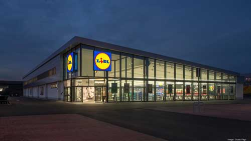 Lidl has officially opened its largest distribution center ever, in North Lanarkshire, Scotland