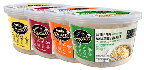 At SFFS 2019, Norseland unveiled the newly updated Lotito Presto Cacio e Pepe sauce starters, Lotito Street Foods, and Lotito Cheese Folios