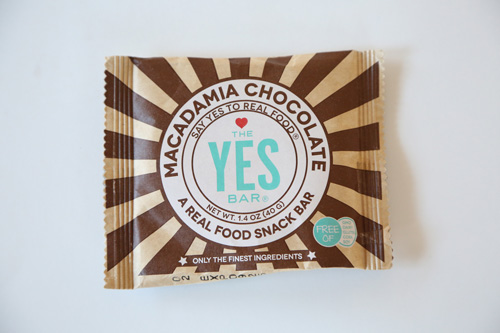 The YES Bar's Macadamia Chocolate Bar
