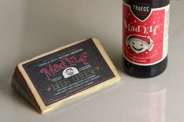 Caputo Brothers Creamery is teaming up with Tröegs Independent Brewing and The GIANT Company to release a limited edition offering: Mad Elf Beer Cheese