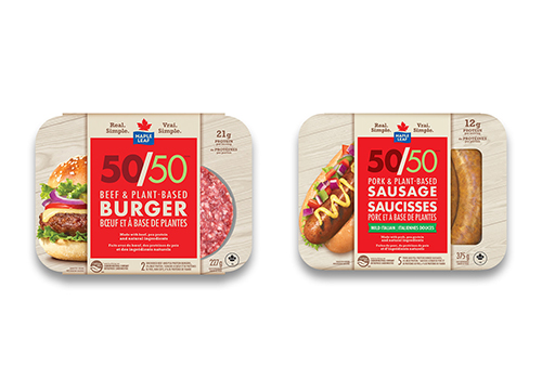 Maple Leaf Foods unveiled its new Maple Leaf 50/50™, an innovative range of fusion products made with 50 percent premium meat and 50 percent plant-based and natural ingredients