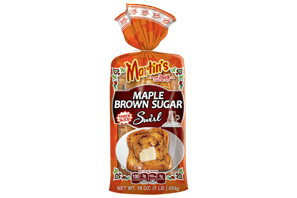Martin's Famous Pastry Shoppe, Inc®. is rolling out a new look for one of its four signature breakfast breads: Maple Brown Sugar Swirl Potato Bread