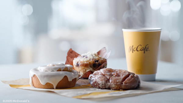 A new McCafé Bakery lineup has been announced, and starting Wednesday, October 28, McDonald's will be serving some sweet new products for breakfast time