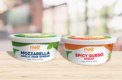 Melt Organic breaks into the cheese category with its new line of plant-based cheese spreads, which include a Jalapeño Queso Dip and a Mozzarella Garlic Herb