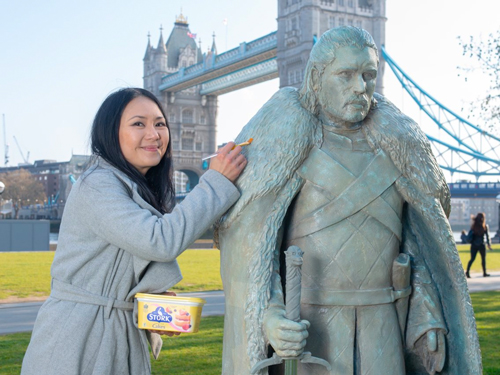 Michelle Wibowo worked tirelessly on these sculptures—which were on display at London's Tower Bridge