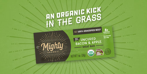 Mighty Organic is challenging the food industry yet again by placing a renewed focus on its mission of better animal care and better food like grass-fed jerky, sticks, and bars