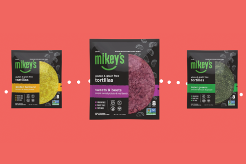 Mikey's recently introduced gluten- and grain-free superfood tortillas