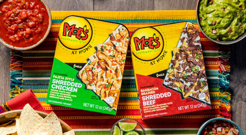 Golden West Food Group is bringing two new flavors of Moe's Southwest Grill fully-cooked meats to Walmart stores across the U.S.