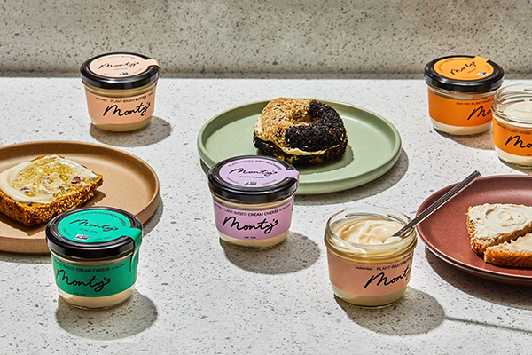 Monty's revealed a packaging rebrand for its plant-based cream cheeses and butters as it announces the launch of its direct-to-consumer site