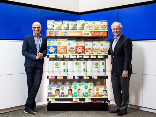 Kroger and Microsoft are piloting a new connected store experience using Kroger Technology products powered by Microsoft Azure