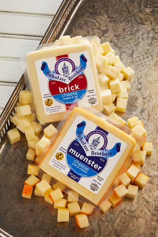 Klondike is releasing a new line of retail cheeses under its Buholzer Brothers brand, which comes in Brick, Muenster, and Havarti