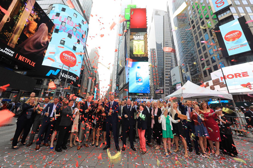 Grocery Outlet recently filed with the SEC, to raise up to $100 million in an IPO, leading to a predicted successful IPO launch. Photo via @NASDAQ on twitter