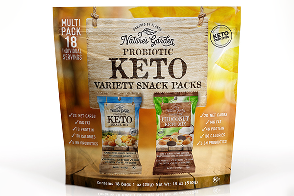 The company has announced that it will be expanding its popular Nature's Garden Keto line with the launch of its new Probiotic Keto Variety Snack Packs