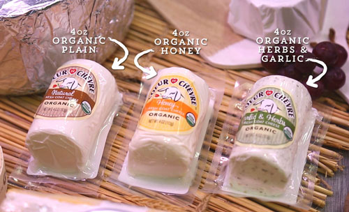 New Organic 4 oz Goat Cheese Products