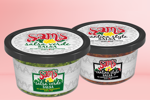F&S Produce, makers of Sam's Fresh Salsa, recently expanded its portfolio with the addition of three new products: Cantina Style Salsa, Salsa Verde, and Watermelon Jicama Salsa
