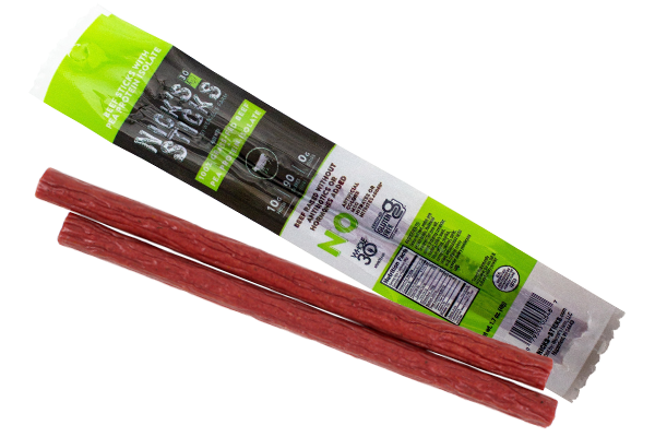 With Nick's Sticks new Beef Sticks with Pea Protein, consumers can still get all of the protein they are looking for, while consuming less beef, in a snack stick that tastes as good as the company's original