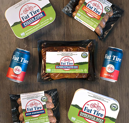 The partnership between Niman Ranch and New Belgium Brewing has brought about a line of sustainably-raised meat products