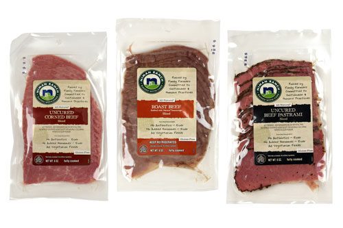 Uncured Corned Beef, Roast Beef, and Uncured Beef Pastrami from Niman Ranch