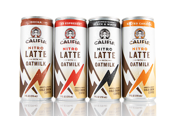 Califia Farms' Nitro Latte with Oatmilk is an exciting single-serve option for that feel-good energy on the go