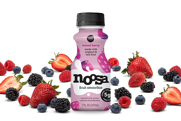 The size of noosa yoghurt's new fruit smoothies—a flavor-packed, beautifully designed 7 oz bottle—make them easy to enjoy for all occasions
