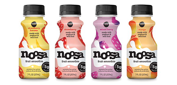 noosa yoghurt recently rolled out a new line of all-fruit smoothies