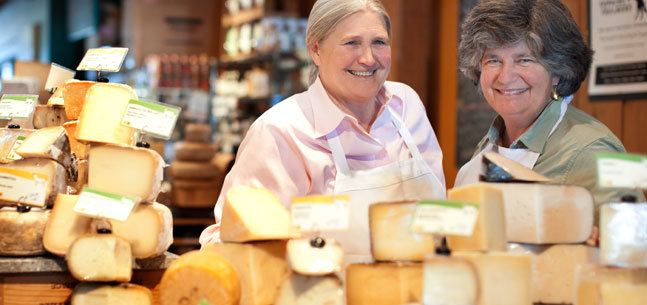 Left to Right: Peggy Smith and Sue Conley, Cowgirl Creamery Corporation