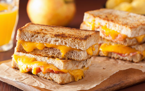 Ilchester Cheddar Bacon Preserves Grilled Cheese Sandwiches