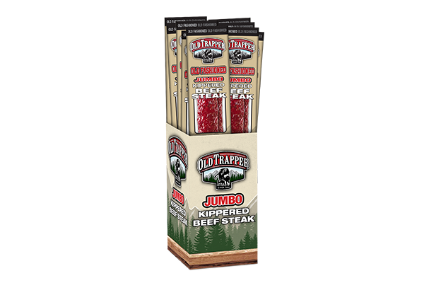 Old Trapper recently debuted its new line of Jumbo Kippered Beef Steak snacks in Old Fashioned, Peppered, and Teriyaki flavors