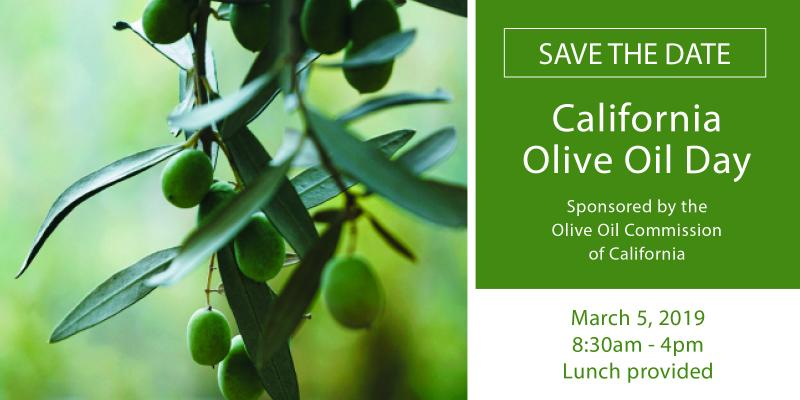 Approximately 150 olive oil producers and industry members from around the state are expected to attend California Olive Oil Day