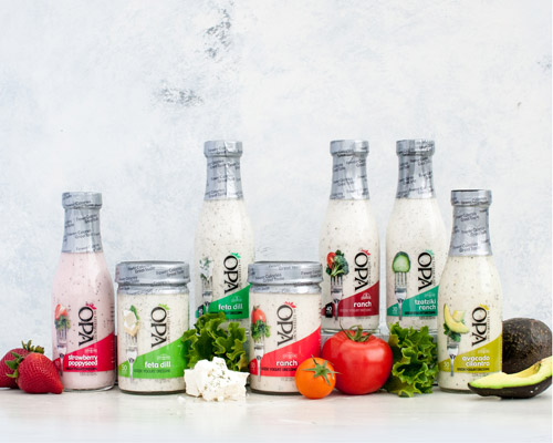 OPA by Litehouse® Greek yogurt salad dressings, a line of full flavor dressings with fewer calories and less fat than other options