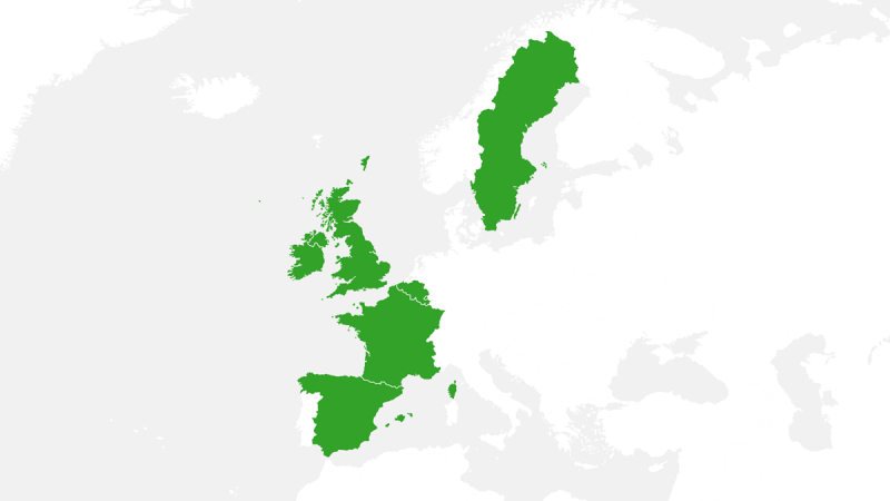 Brakes Group's Areas of Business (UK & Ireland, Continental Europe, Sweden)