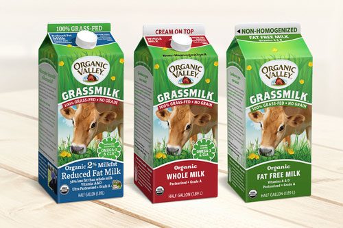 Organic Valley's line of Grassmilk Milk