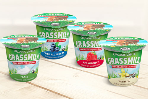 Organic Valley's line of Grassmilk Yogurt