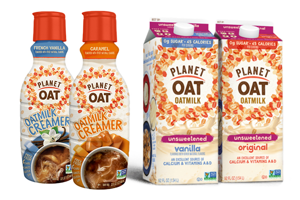 HP Hood-owned Planet Oat is rolling out some new offerings this month including coffee creamers, unsweetened oatmilk, and new frozen dessert flavors