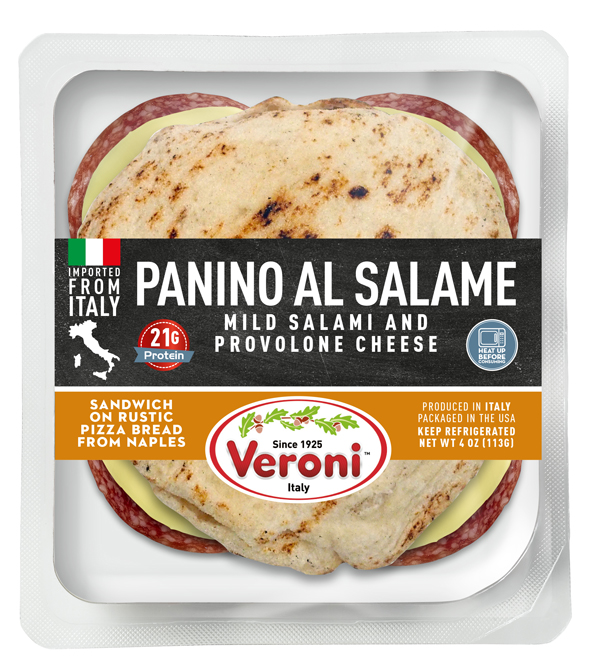 Veroni initially debuted the American-friendly line last January at Winter Fancy Food Show, which features the Veroni Panino al Salame