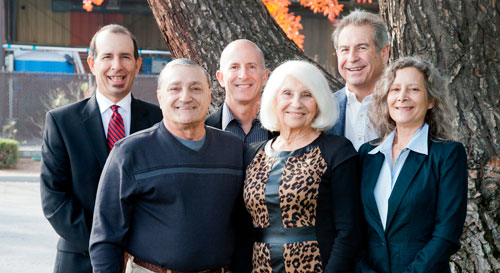 The Papulias Family, From Left: Edward, Lenny, Ted, Marie, Keith, and Trish Papulias