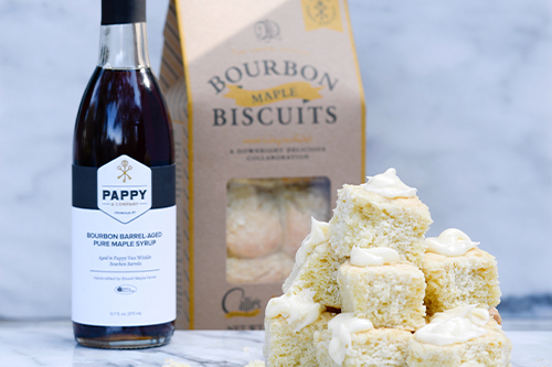 Pappy & Company launched a Limited Edition Maple Bourbon Biscuit with a team called Callie's Biscuits