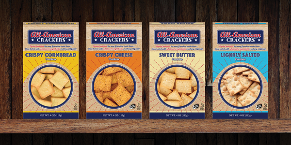 PARTNERS® new Classic flavors—Crispy Cornbread, Sweet Butter, Crispy Cheese, and Lightly Salted—will be donning the efforts of the brand's latest refresh, including new retro packaging