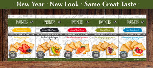 Partners®, A Tasteful Choice Company, revealed it's revamped cracker packaging at this year's Winter Fancy Food Show