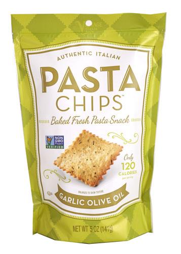 Pasta Chips, Garlic Olive Oil