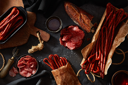Naturally wood-smoked and dry aged, the new Salami Whips are perfect for on-the-go eating