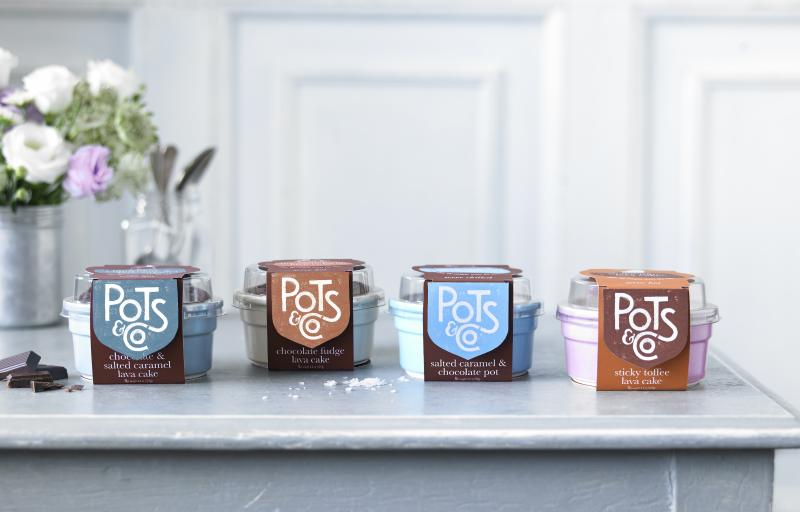 Pots & Co.'s products range in flavor from salted caramel and chocolate to sticky toffee lava cake
