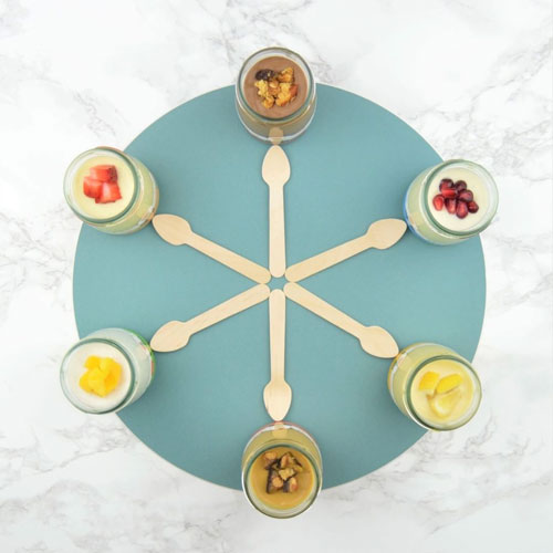 Each of Petit Pots pudding jars come in single-serve 3.5 oz sizes