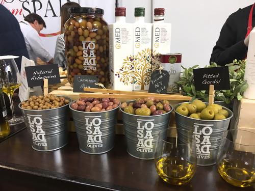 Losada artisan olives and O-Med olive oil on display