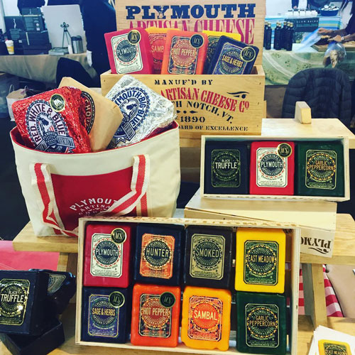 Plymouth Artisan Cheese has both a new product and a new partnership to celebrate