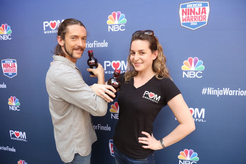 American Ninja Warrior Winner Isaac Caldiero and POM Wonderful Senior Marketing Director Dahlia Reinkopf