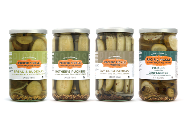 Pacific Pickle Works' co-packing includes products such as pickles, pickled veggies, tapenades, sauces, drink mixes, and more